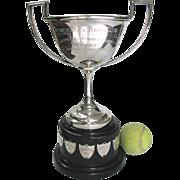 Vintage Silver Tennis Trophy 1930 Ladies Singles - Nice One