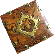 French Burl Walnut Ormolu Box - Maker E.A. Faveill