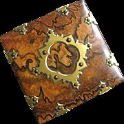 French Burl Walnut Ormolu Box - Maker E.A. Faveill