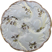 Antique Limoges Oyster Plate - 4 Well by Charles Field, Haviland c1890