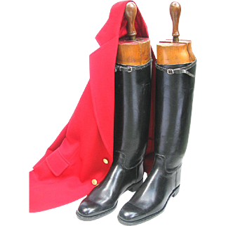 Vintage Equestrian Riding Boots with Timber Boot Lasts - Wooden Stretchers - English Made