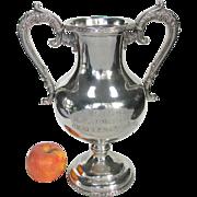 Antique Silver Railroad Trophy - C.N.R. Canadian National Railway Trophy c1900