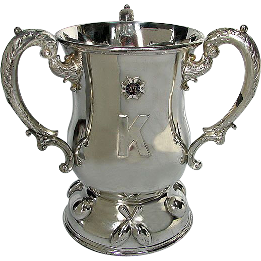 "Antique Military Trophy / Loving Cup - HUGE 1904 Bowling - 47th Regiment N.G.N.Y. Company ""K"""