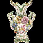 Antique Coalport Coalbrookdale Vase Rococo Style c1830 – 1840 See Coalport China Museum