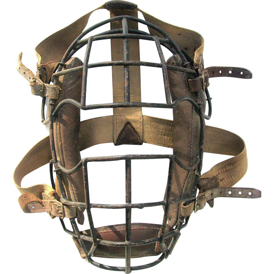 Early Baseball Spider Catcher's Mask - All Intact & Original