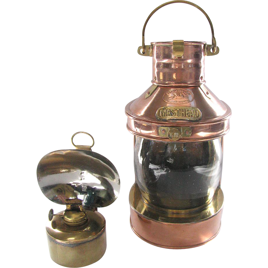 Antique Perko Navigation Lights Vintage Authentic Naval: Vintage Nautical Navigation Lantern Copper & Brass