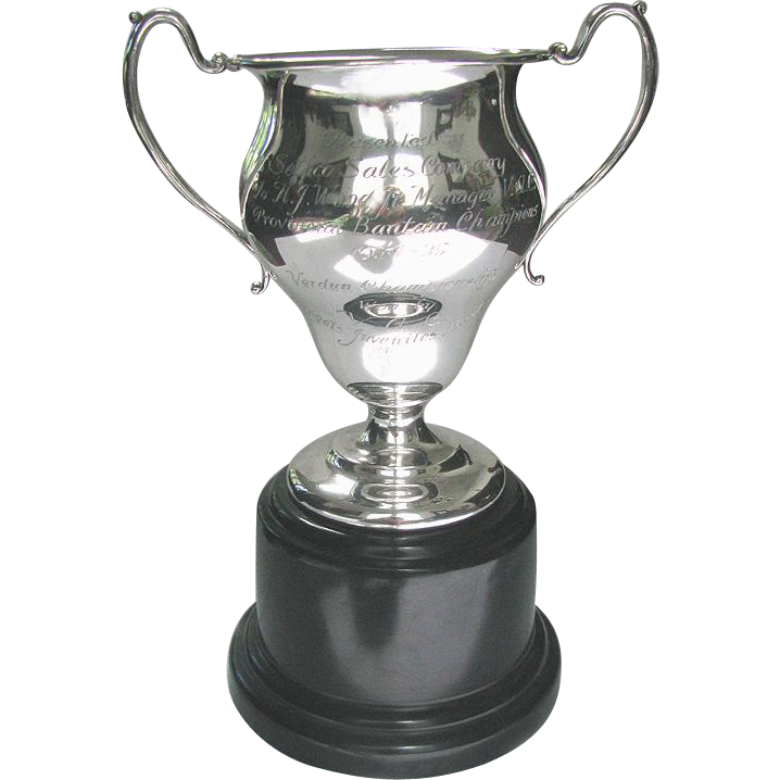 Vintage Junior Hockey Trophy 1934-35 Silver Plated Hockey Trophy - Verdun Championship