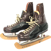 "CCM Tackaberry Hockey Skates pre 1960 the ""Tacks"" Series with CCM Guards"