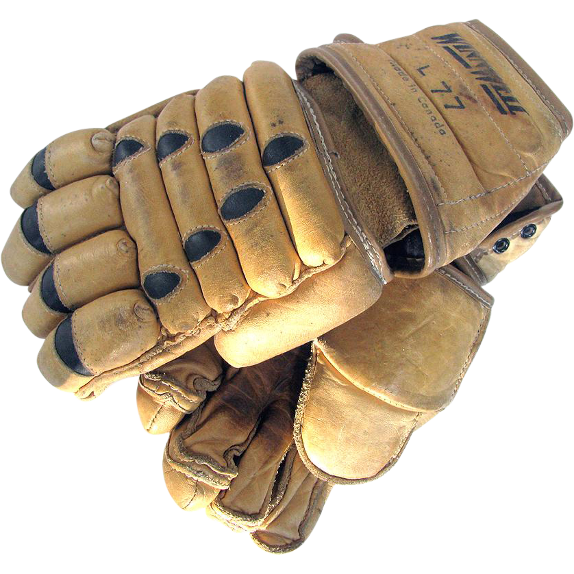 Vintage Leather Lacrosse Gloves c1970 WinnWell
