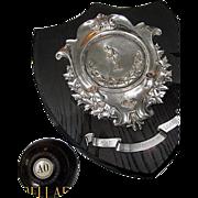 HUGE Trophy Shield - Antique Lawn Bowling - Extra Fancy!