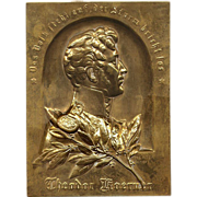 Bronze Plaque German Poet / Soldier Theodor Koerner (1791-1813)