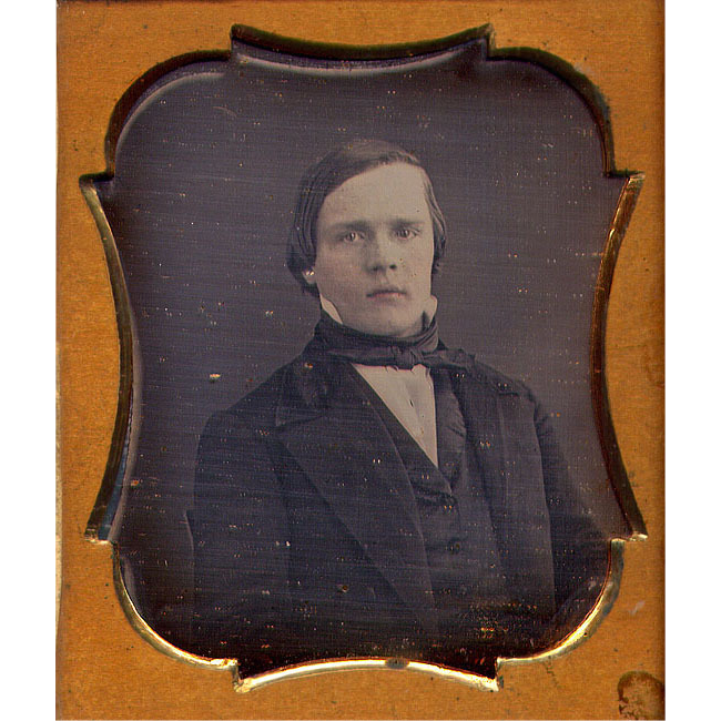 Young Man OLD Seals Daguerreotype in Thermoplastic Case