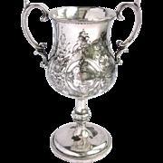 Antique Silver Repousse Trophy 1875 -for  Friendship