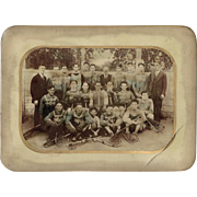 Jewish Lacrosse YMHA Team Photo on Celluloid c1920s