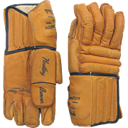 Vintage Leather Hockey Gloves COOPER WEEKS Bob Cameron Model HG30 - AS NEW - Red Tag Sale Item