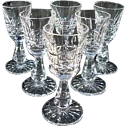 "Vintage Waterford Crystal Liqueur - Cordial  Glasses ""Kylemore"""