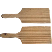 Vintage Wooden Butter Paddles - Pair - English - Treen - Early 20th Century