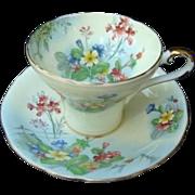 "Aynsley English Bone China ""Primrose"" Cup and Saucer"