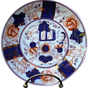 """c1850 Antique Staffordshire Gaudy Welsh """"Buckle"""" Saucer"""