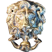 Vintage Cast Brass Door Knocker - Classic Lion - Traditional - Red Tag Sale Item