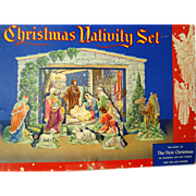 Vintage Christmas Nativity Set - Boxed - Red Tag Sale Item