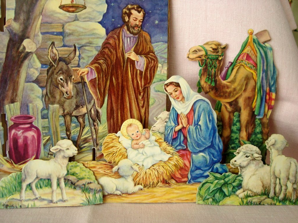 Vintage Christmas Nativity Set Boxed From Bellarosa On