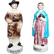 John and Pricilla Alden - Pilgrim - Salt and Pepper, Vintage, New England