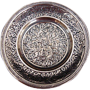 Small Indian Brass Plate/Dish c1900
