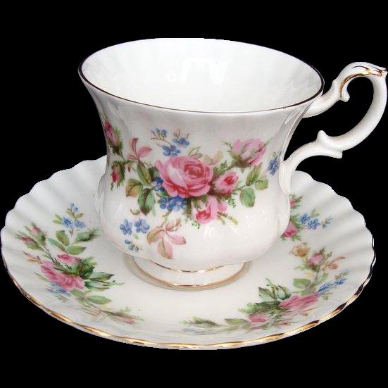 royal albert moss rose vintage demi tasse coffee cup. Black Bedroom Furniture Sets. Home Design Ideas