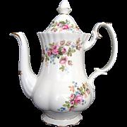 "Small Coffee Pot - Royal Albert ""Moss Rose"" - Vintage"