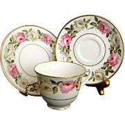 "Royal Worcester ""Royal Garden - Elgar"" Trios - Vintage"
