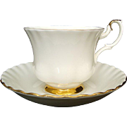 "Royal Albert ""Val D'or"" - Cup and Saucer - Vintage"