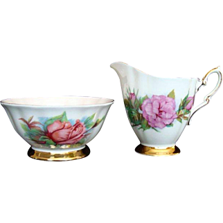 "Vintage Paragon ""Rendezvous"" Open Sugar Bowl and ""Prelude"" Milk Jug - Harry Wheatcroft"