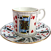 """Vintage Elizabethan """"Cut for Coffee"""" Demi Tasse / Coffee Can and Saucer"""
