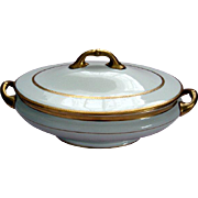 Royal Doulton Covered Vegetable Dish - Gilded - c1902 - 1922