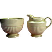 "Vintage Wedgwood ""Edme"" Footed Creamer / Milk and Footed Sugar Bowl"