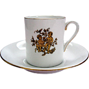 """Vintage Royal Tuscan """"Gemini"""" Demi Tasse / Coffee Can and Saucer - Horoscope Series"""