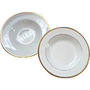 Vintage Minton Flat Soup Bowl and 1 Other - Gilded Edge