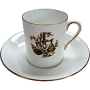 """Vintage """"Libra"""" Demi Tasse / Coffee Can and Saucer - Royal Tuscan - """"Horoscope"""" Series"""