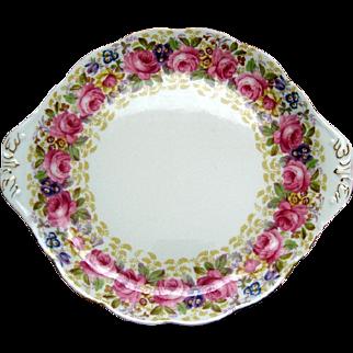 "Royal Albert ""Serena"" Cake Plate - Vintage"