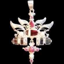 "Shankari Sterling Silver Pendant - ""Passion, Clarity & Power I I"""