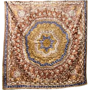 Cover/Table Cover Matyo Silk Hand Embroidered Early 20th Century