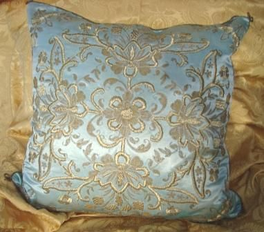 Antique Ottoman Metallic Thread and Silk Pillow/Cushion c1850