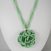 Czech Glass Rosette Necklace