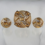 1950s Boucher Set - Brooch & Earrings