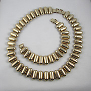 1940s Machine Age Set - Necklace & Bracelet