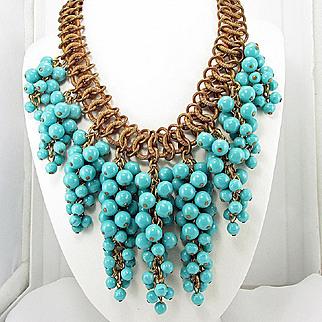 Miriam Haskell drippy bib necklace