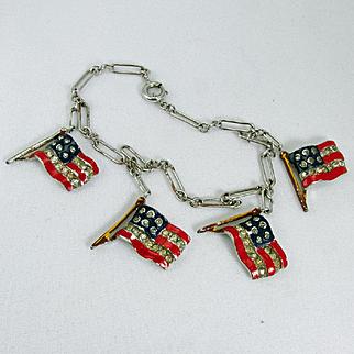 TRIFARI bracelet ~RARE~ '40s WWII patriotic