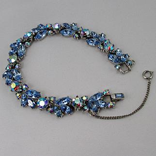 TRIFARI rhinestone bracelet ~ cornflower blue