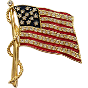 Jackie 'O' Kennedy Patriotic Flag Pin by Camrose & Kross